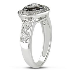 10k White Gold 1/6ct TDW Diamond Heart Ring