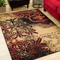 Copper Grove Abruzzo Indoor Gold Abstract Area Rug - 7'10 x 10'