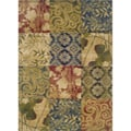 "Indoor Beige Geometric Area Rug (7'10 x 10') - 7'10"" x 10'"