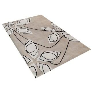 Alliyah Handmade Cuban Sand New Zealand Blend Wool Rug (5' x 8')