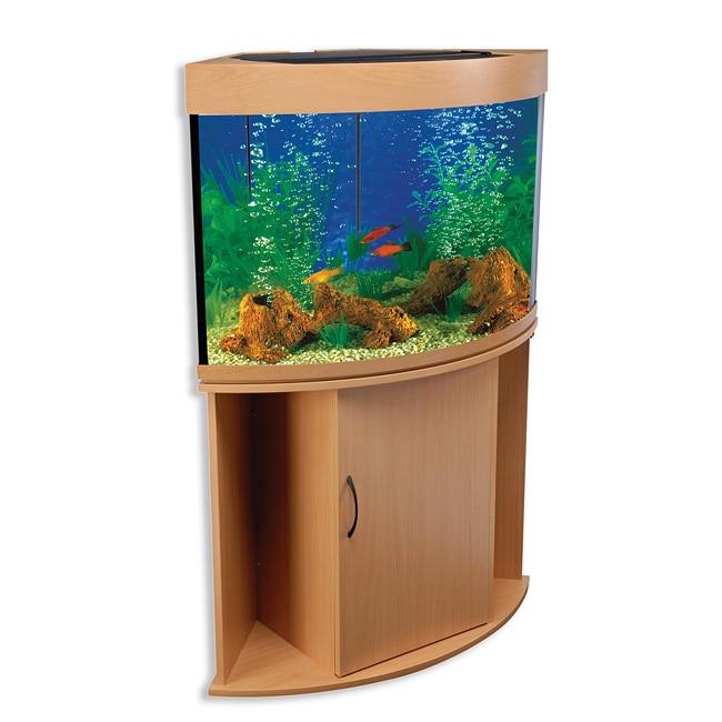 Compass Rose 42 Gallon Corner Aquarium And Stand Free