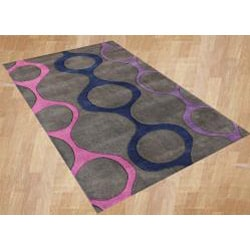Alliyah Handmade Purple New Zealand Blend Wool Rug  (8' x 10') - Thumbnail 1