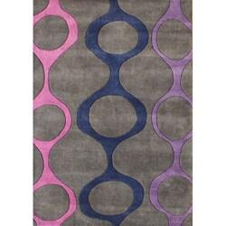 Alliyah Handmade Purple New Zealand Blend Wool Rug (8' x 10')