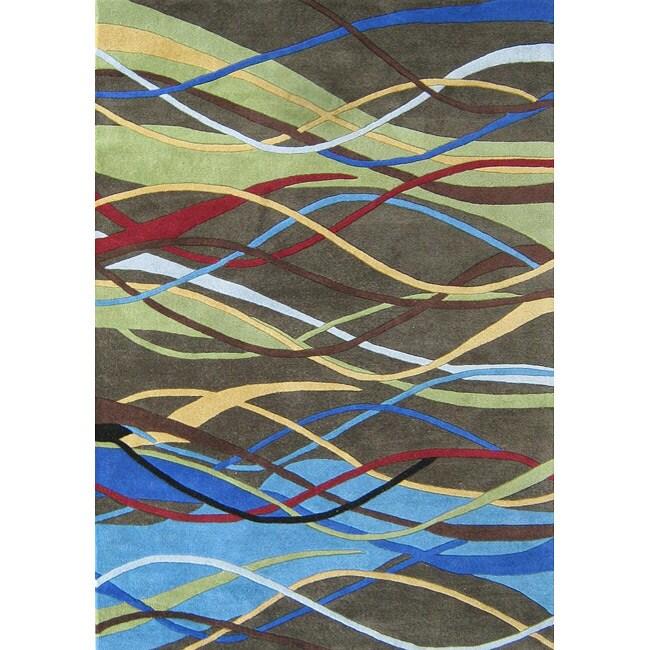 Alliyah Handmade Deep Lichen Green New Zealand Blend Wool Rug (8' x 10')