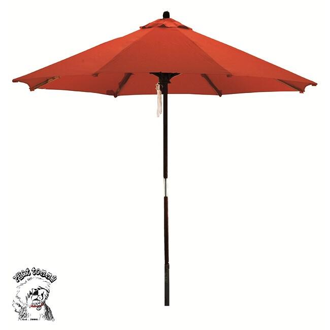 PHAT TOMMY Deluxe Sunline Red Orange 9-foot Market Umbrella