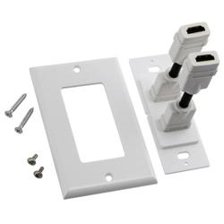 INSTEN Dual Port HDMI Wall Plate