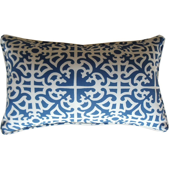 12 x 20-inch Malibu Blue Outdoor Decorative Pillow - Thumbnail 0