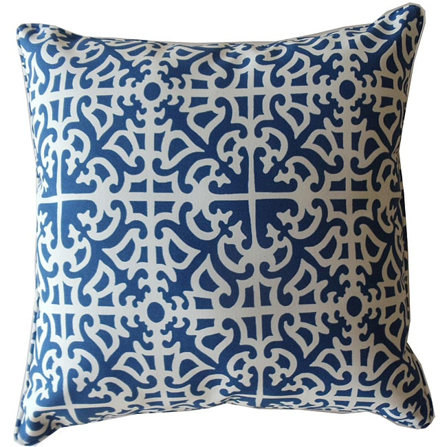 20  20-inch Malibu Blue Outdoor Decorative Pillow - Thumbnail 0