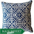 Jiti Blue Malibu Geometric Sunbrella Handmade Outdoor Pillow - 20 x 20 - 20 x 20