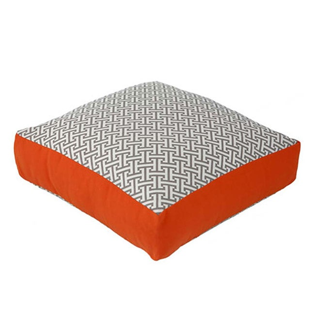 Grey and Orange Box Maze Decorative Pillow - Thumbnail 0