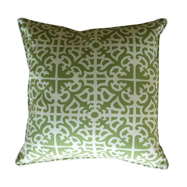 20 x 20-inch Malibu Green Outdoor Decorative Pillow