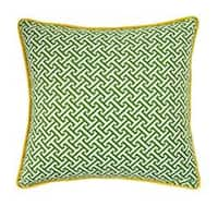 Green and Yellow Maze Decorative Pillow