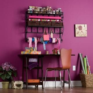 Harper Blvd Burnet Espresso Wall Mount Craft Storage Rack|https://ak1.ostkcdn.com/images/products/5808758/P13527688.jpg?impolicy=medium