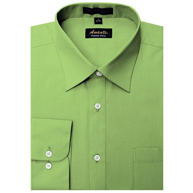 Men 39 S Wrinkle Free Apple Green Dress Shirt Free Shipping