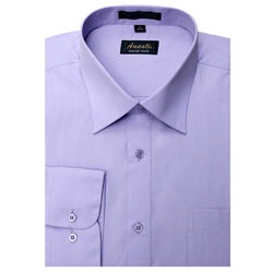 Men's Lavender Wrinkle-free Dress Shirt