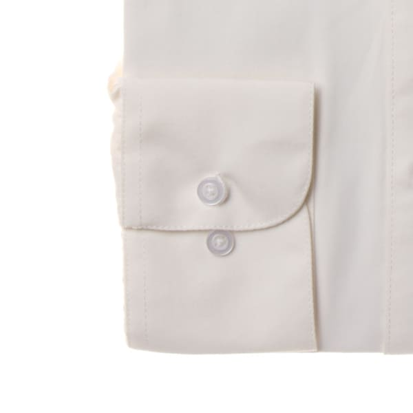 Men's Off-white Cotton and Polyester Wrinkle-free Long-sleeve ...