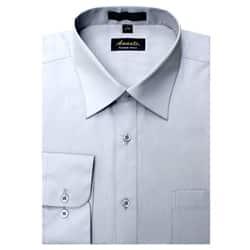 Men's Wrinkle-free Silver Dress Shirt
