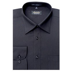 Men's Wrinkle-free Black Dress Shirt (Option: 18)