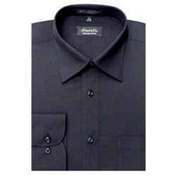 Men's Black Wrinkle-free Dress Shirt