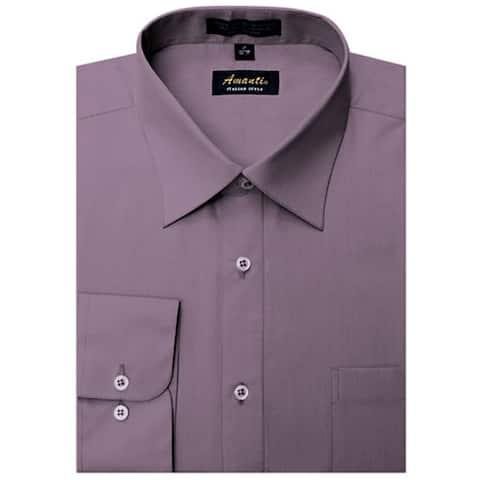 Men's Wrinkle-free Violet Dress Shirt