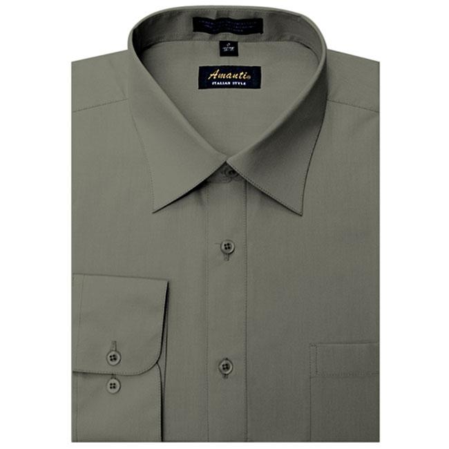 Men's Wrinkle-free Charcoal Dress Shirt