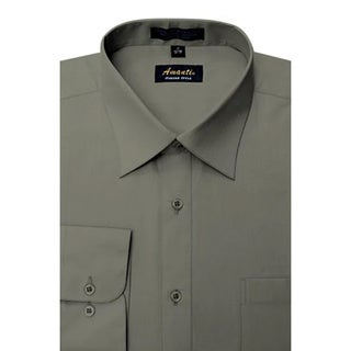 Men's Wrinkle-free Charcoal Dress Shirt (More options available)