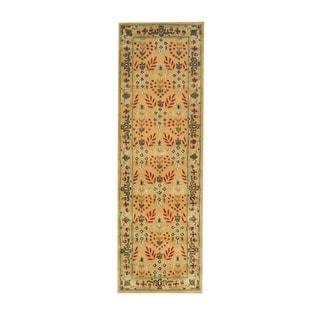 Herat Oriental Indo Hand-tufted Wool Runner (2'6 x 8')