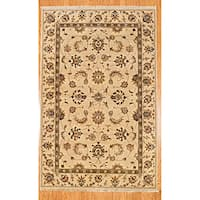 Herat Oriental Afghan Hand-knotted Oushak Wool Rug (5'8 x 8'9)