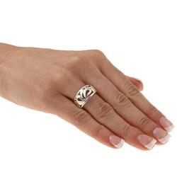 Sterling Essentials Platifina Sterling Silver Sonoma Ring