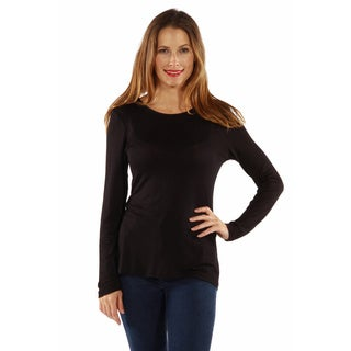 24/7 Comfort Women's Long Sleeve Knit Top (More options available)