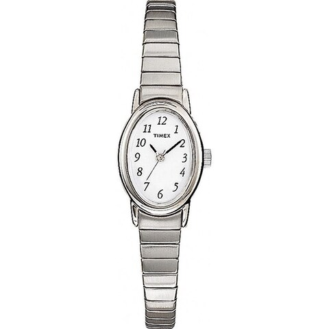 Timex Women's T21902 Cavatina Silver-Tone Stainless Steel Expansion Band Watch - silver