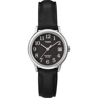 Timex Women's T2N525 Easy Reader Black Leather Strap Watch|https://ak1.ostkcdn.com/images/products/5809235/P13527987.jpg?impolicy=medium