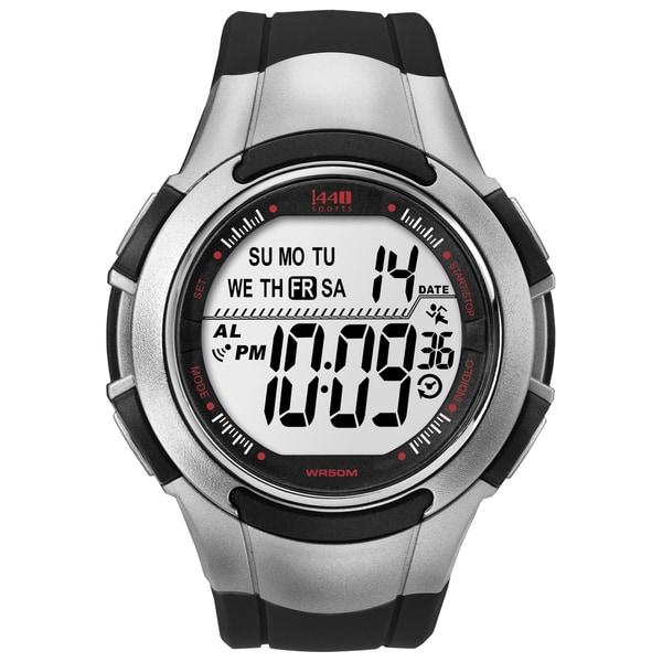 timex men s t5k237 1440 sports digital sport black silvertone timex men s t5k237 1440 sports digital sport black silvertone watch