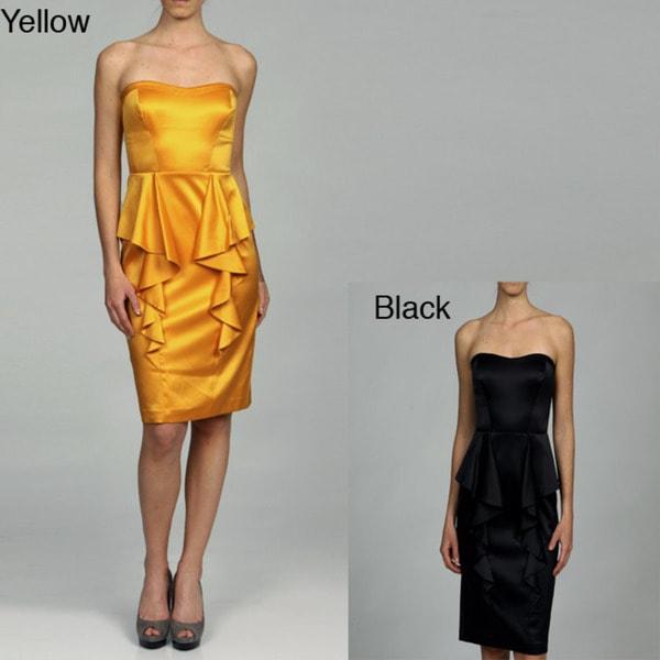 Jessica Simpson Women's Peplum Strapless Dress FINAL SALE