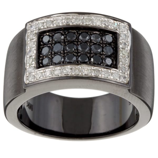 4c4c6420a Shop Victoria Kay Black Silver Men's 7/8ct TDW Black and White ...