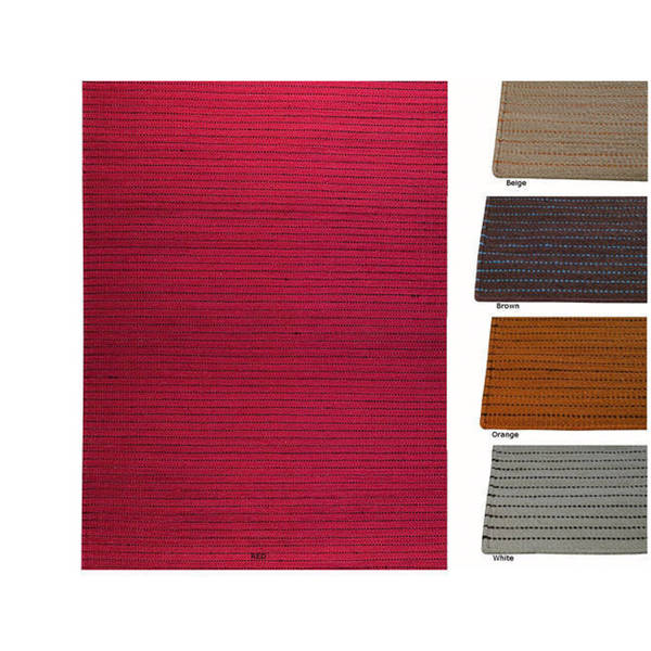 M.A.Trading Hand-woven Margarita Wool Rug (5'6 x 7'10) (India)