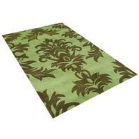 Alliyah Handmade Palm Green New Zealand Blend Wool Rug (8' x 10') - 8' x 10'