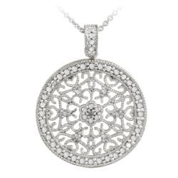 Db designs sterling silver diamond accent filigree medallion db designs sterling silver diamond accent filigree medallion necklace aloadofball Choice Image