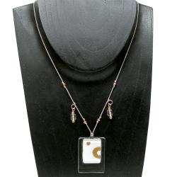 Ethereal Stacked Glass Rectangle Necklace (Chile) - Thumbnail 2