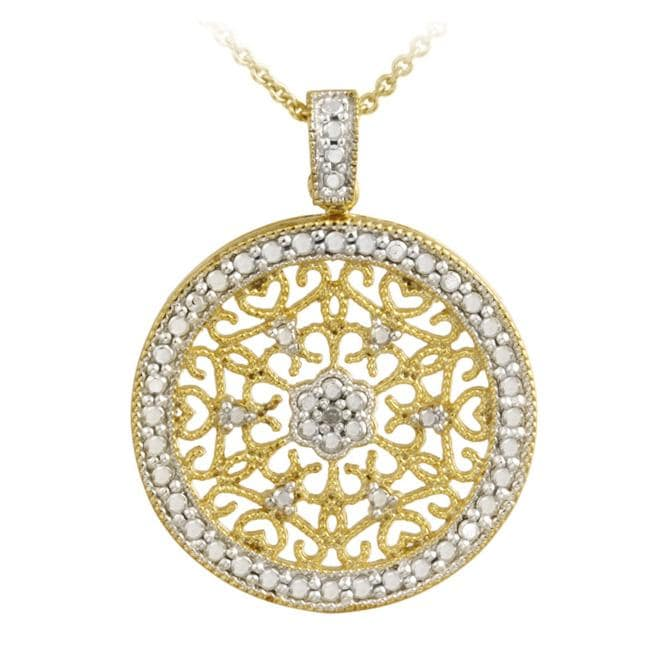 db designs 18k gold silver accent filigree