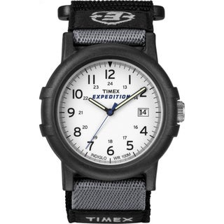 Timex Men's T49713 Expedition Camper Black Fast Wrap Hook and Loop Strap Watch