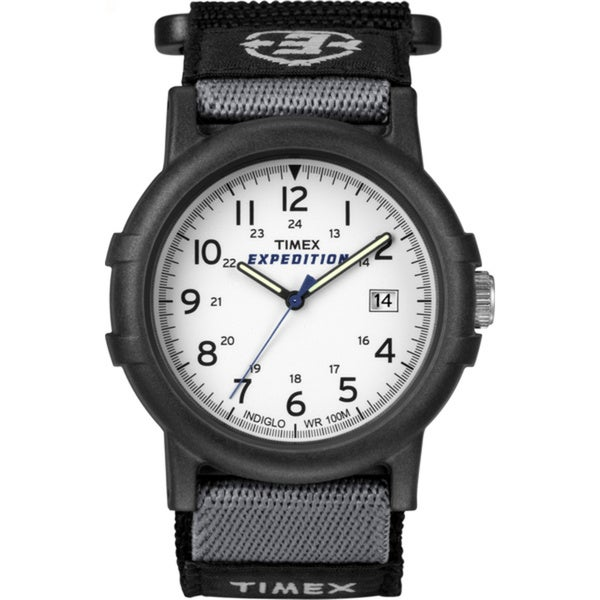 Timex Men's T49713 Expedition Camper Black Fast Wrap Velcro Strap Watch
