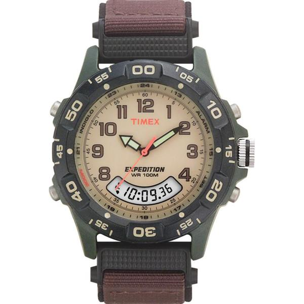timex expedition analog digital black watch bippmd