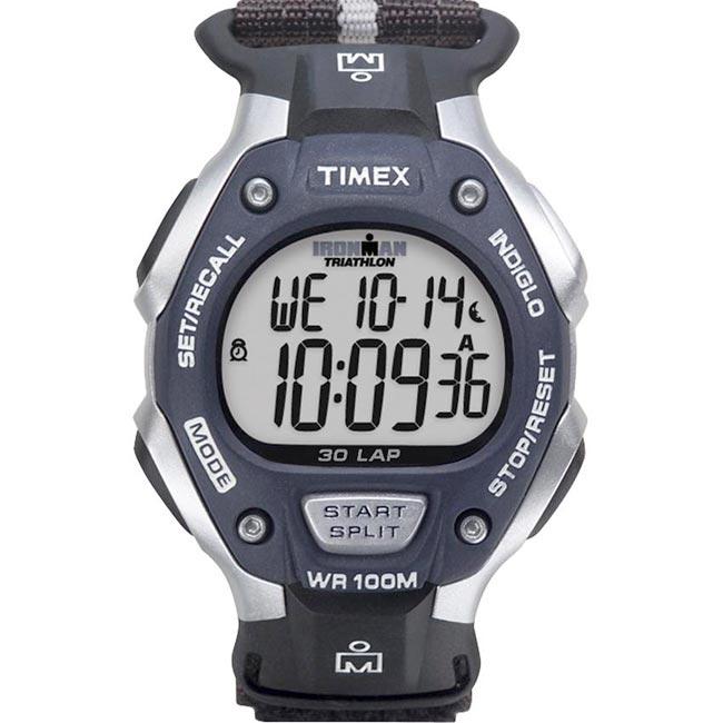 Timex Men's T5H421 Ironman Traditional 30-Lap Fast Wrap Velcro Strap Watch