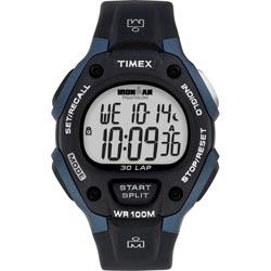 Timex Men's T5H591 Ironman Traditional 30-Lap Black/Blue Watch