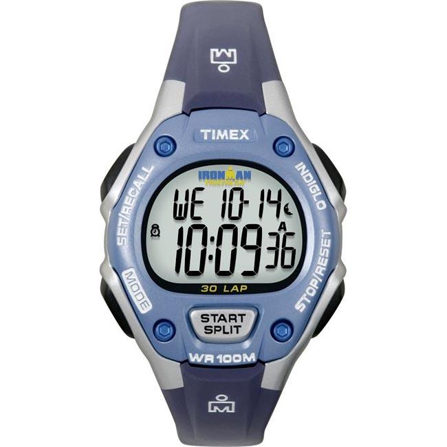 Timex Women's T5K018 Ironman Traditional 30-Lap Blue/Silvertone Watch