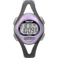 Timex Women's T5E511 Ironman Sleek 50-Lap Grey/Purple Watch