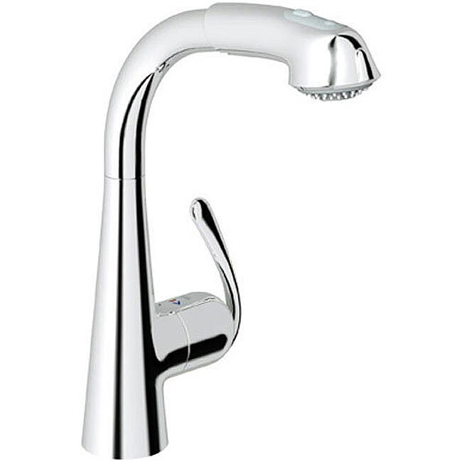 Ladylux Chrome Pullout Kitchen Faucet