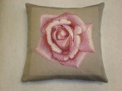 Corona Decor Pink Rose French Decorative Pillow