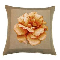 Corona Decor Yellow Rose French Down Fill Decorative Pillow